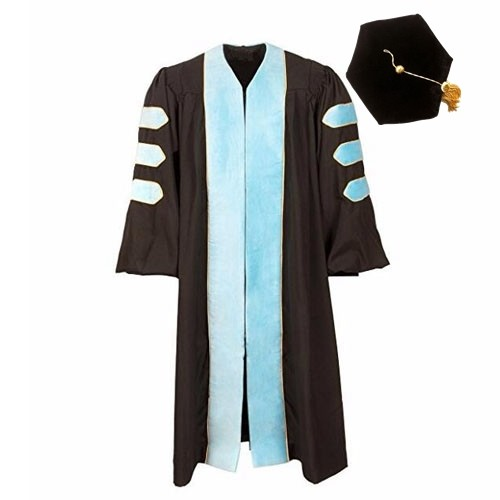 Unique Doctoral Graduation Gown Hexagon Cap with Sky