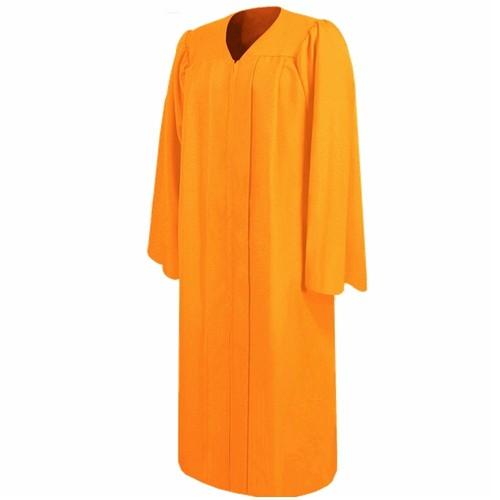 Academic Matte Orange Bachelor Graduation Gown