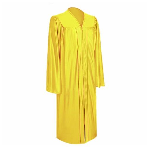 Premium Shiny Gold Bachelor Graduation Gown