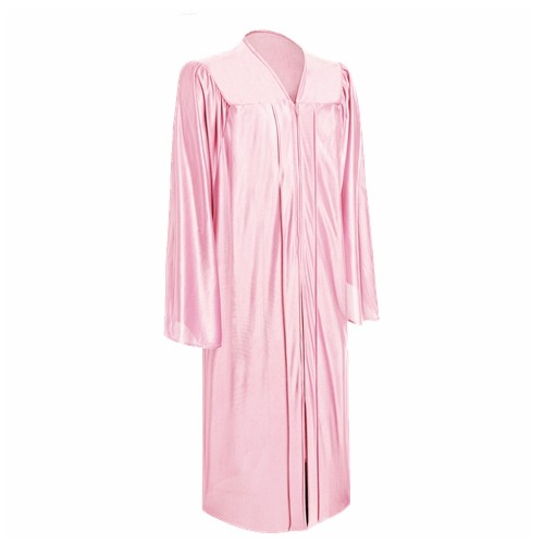 Academic Shiny Pink Bachelor Graduation Gown