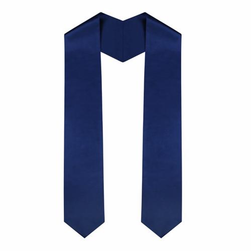 Academic Navy Blue Graduation Plain Stole
