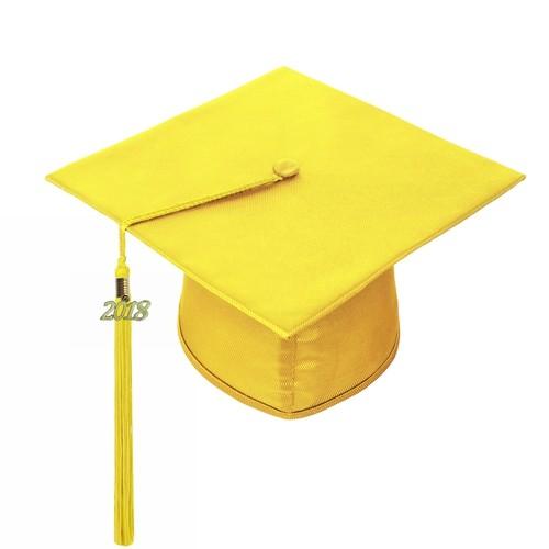 Shiny Gold Graduation Cap with 2018 Year Charm