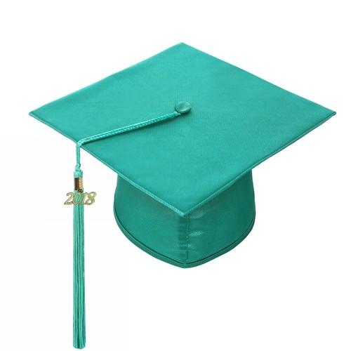 Classic Shiny Emerald Green Graduation Tam