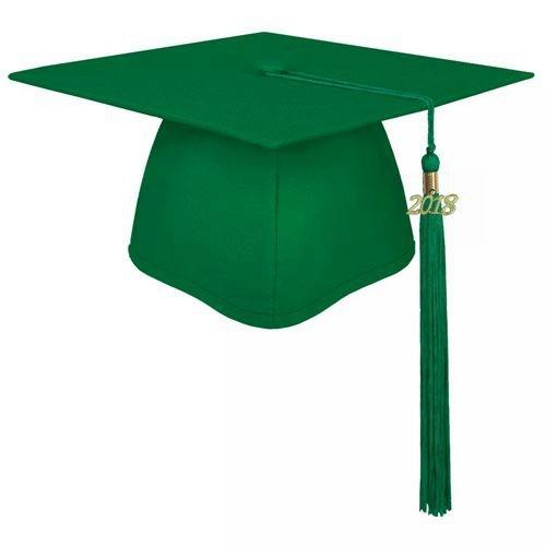 Bachelor Matte Emerald Green Graduation Cap