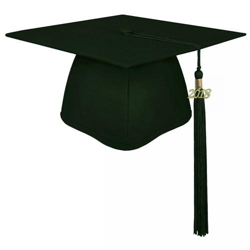 Matte Forest Green Academic Graduation Cap
