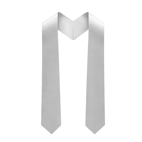 Academic Deluxe Silver Graduation Stole