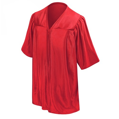Academic Children Shiny Red Graduation Gown Only