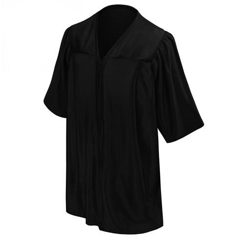 Kindergarten Academic Shiny Black Graduation Gown