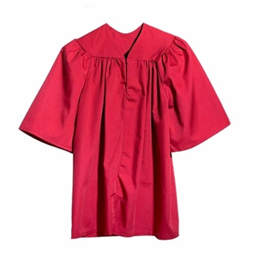 Matte Graduation Gown for Kids in Red