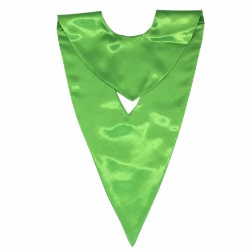 Wholesale Unisex Emerald Green Graduation V-stole