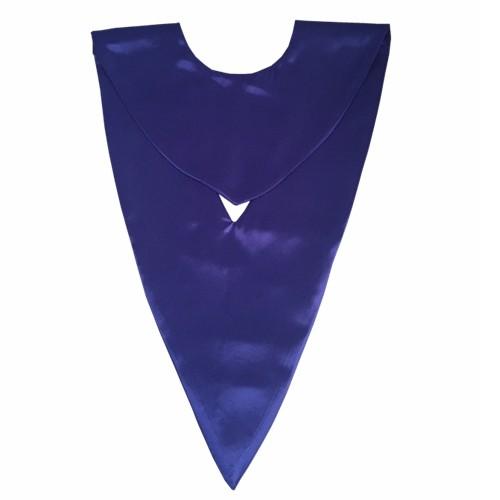 Academic Purple Unisex Graduation V-stole