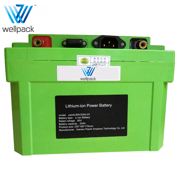 60V Electric Moped Lithium Battery Pack
