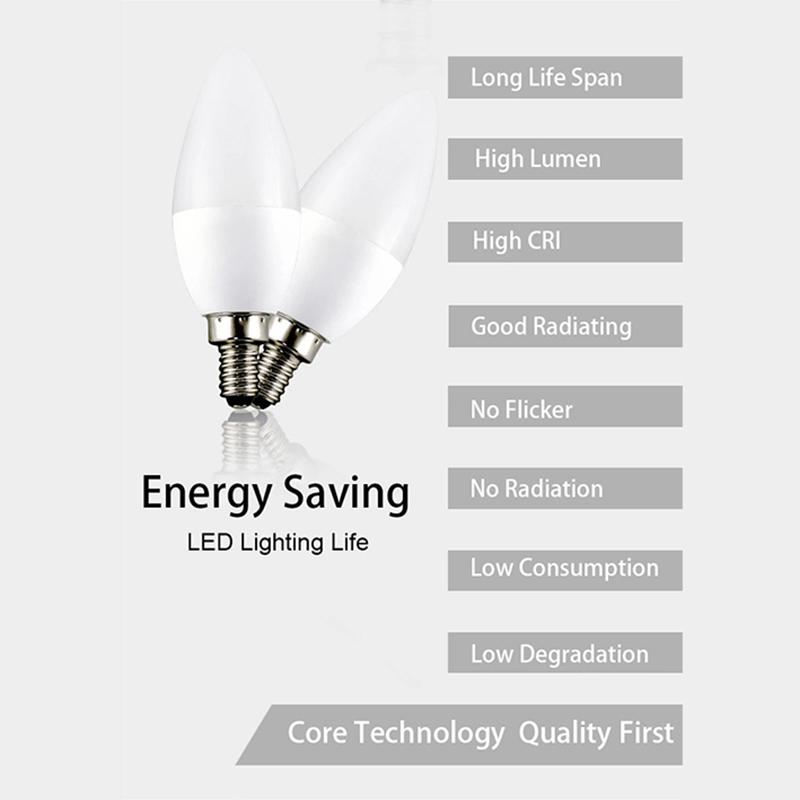 6w e14 led bulb