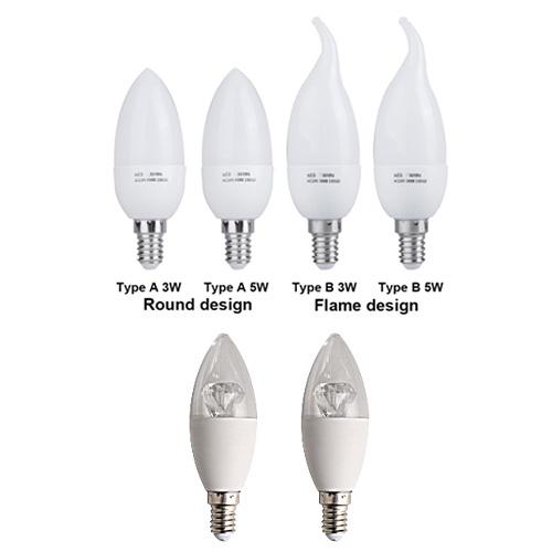 LED Candle Bulbs 6W E14/E27