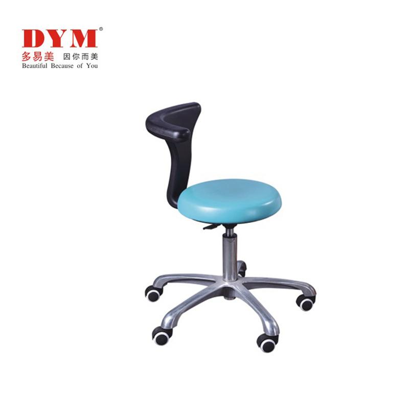 Rotary metal base large backrest dentist stool Manufacturers, Rotary metal base large backrest dentist stool Factory, Supply Rotary metal base large backrest dentist stool
