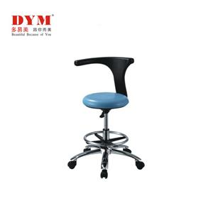 Rotating metal base with foot pedal doctor stool