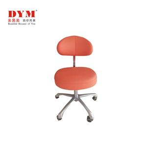 Rotating metal base dental assistant chair