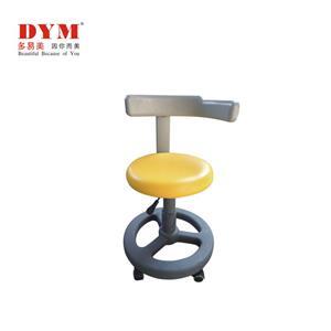 Height adjustable pu leather plastic base dental stool