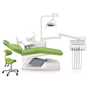 4 hole LED sensor light single armrest microfiber cushion dental unit