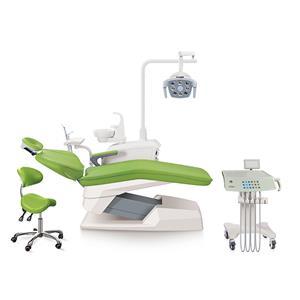 Silent motor 90 degree adjustable headrest dental unit trolley