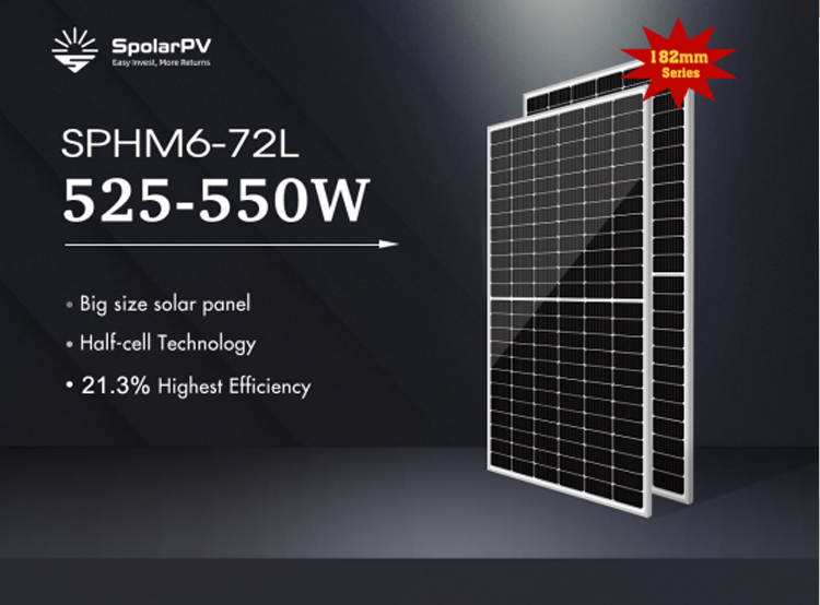 SpolarPV is going to launch big size 182mm solar panel