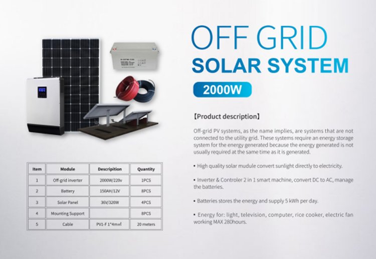Photovoltaic off-grid power generation system technical solution