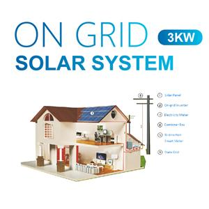 3kw Home Use On Grid Solar System