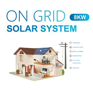 8kw Home Grid Tied Solar Power System