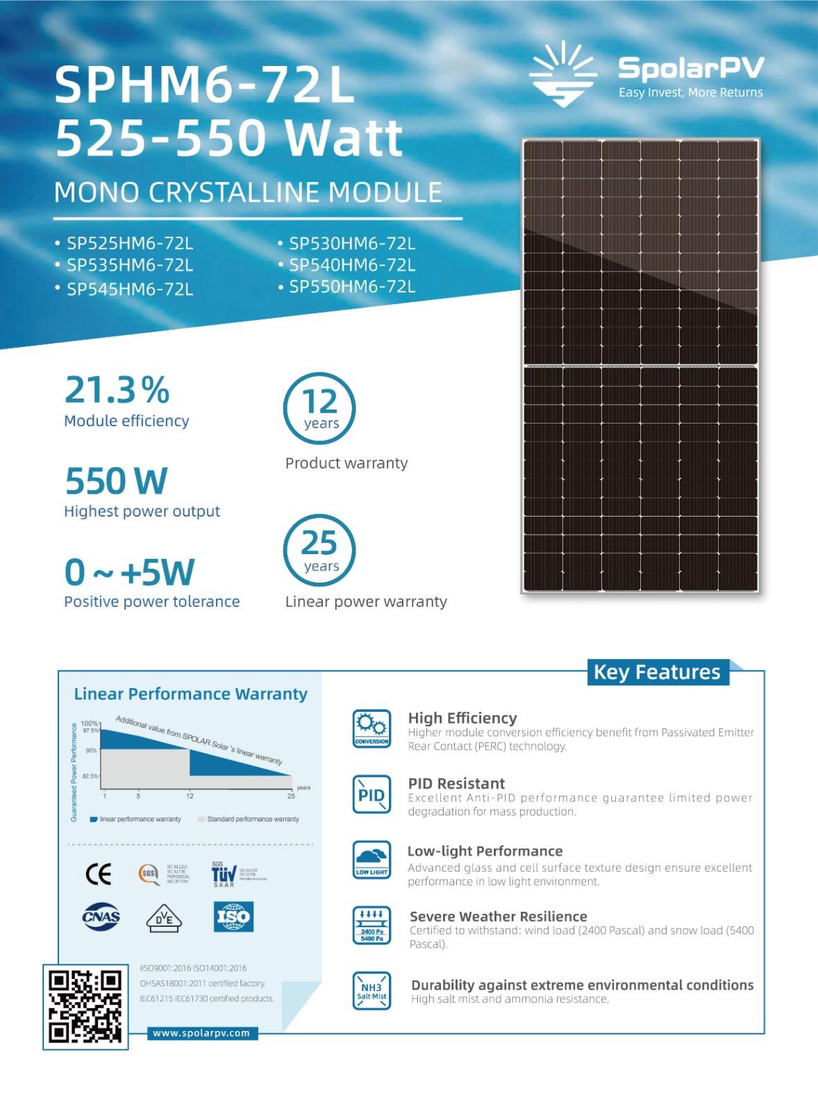 excellent Anti-PID performance solar module