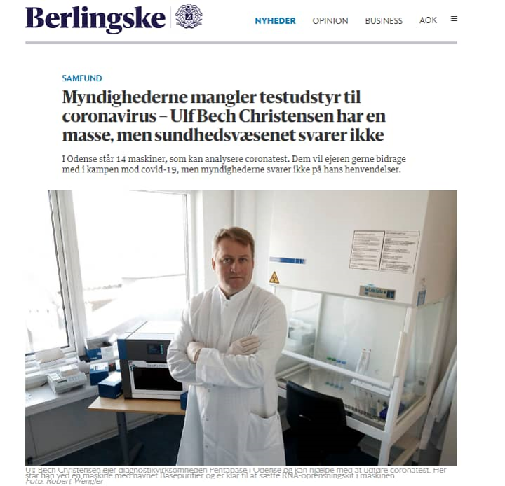 How we have helped COVID-19 pandemic control in Denmark?