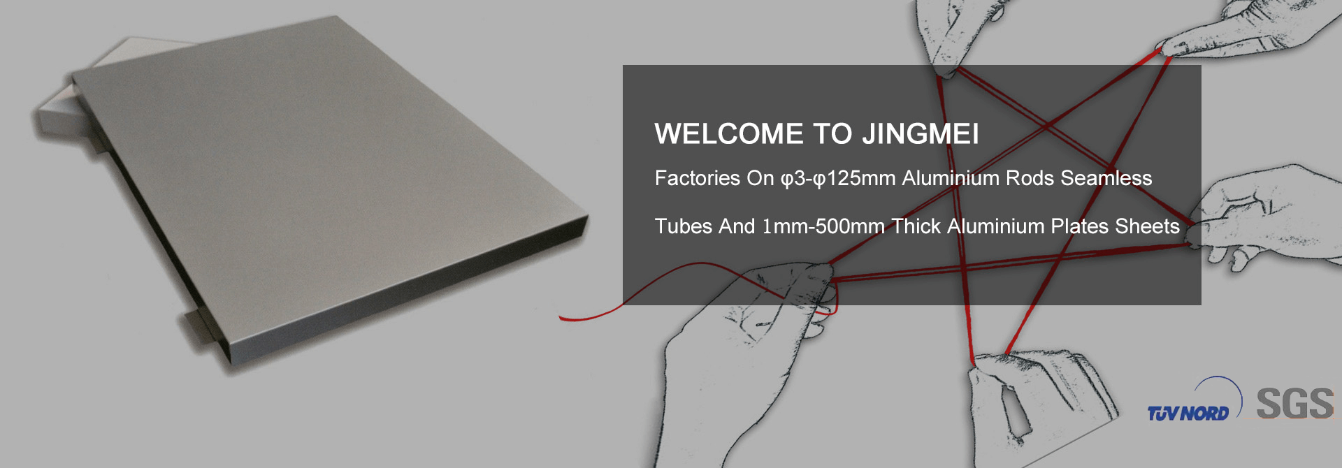 Welcome to Jingmei, Factories On 3φ-125φmm Aluminium Rods Seamless Tubes And 1mm-500mm Thick Aluminium Plates Sheets.