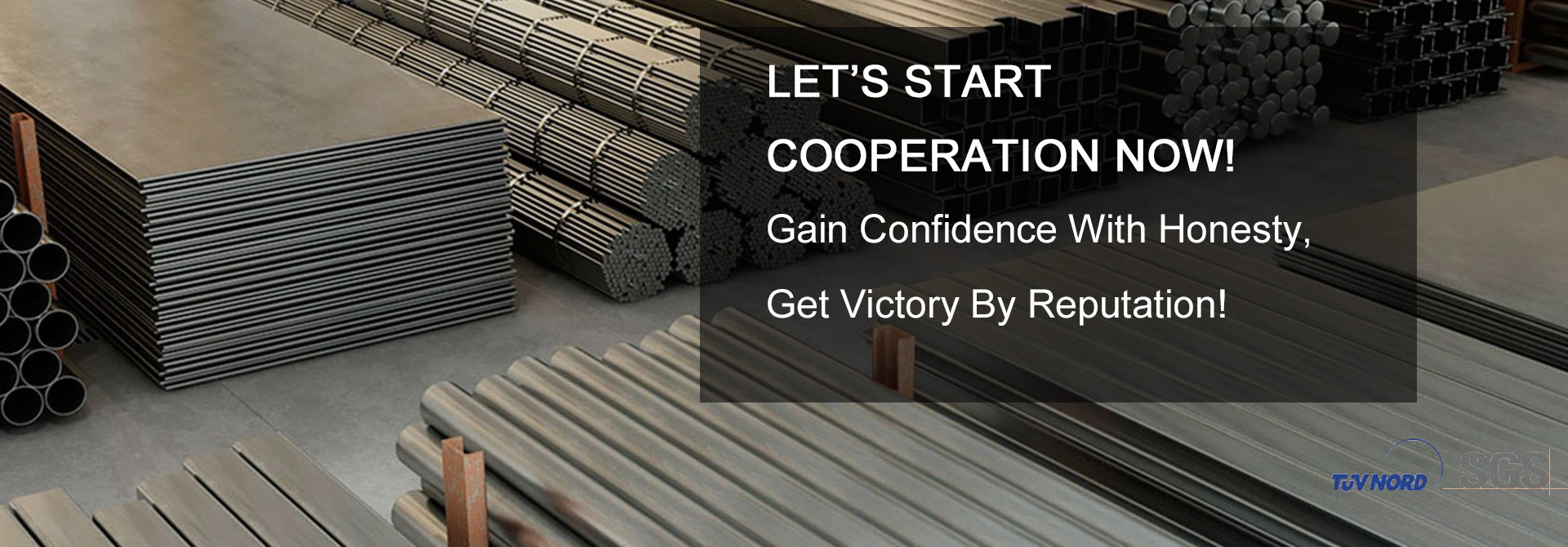 Let's Start Cooperation Now! Gain Confidence With Honesty, Get Victoty By Reputation!