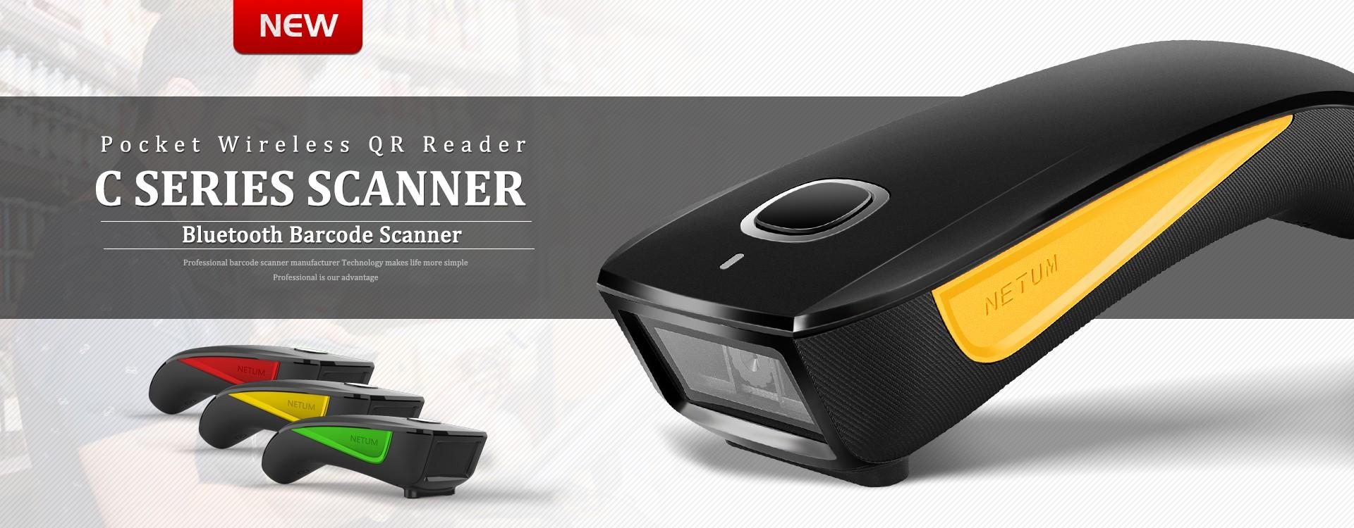 1D Laser Wireless Barcode Scanner
