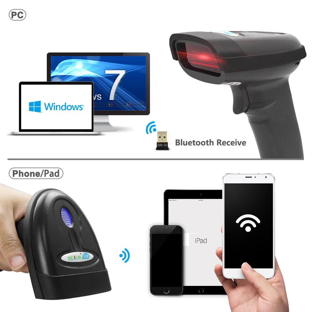 1D Bluetooth Barcode Scanner