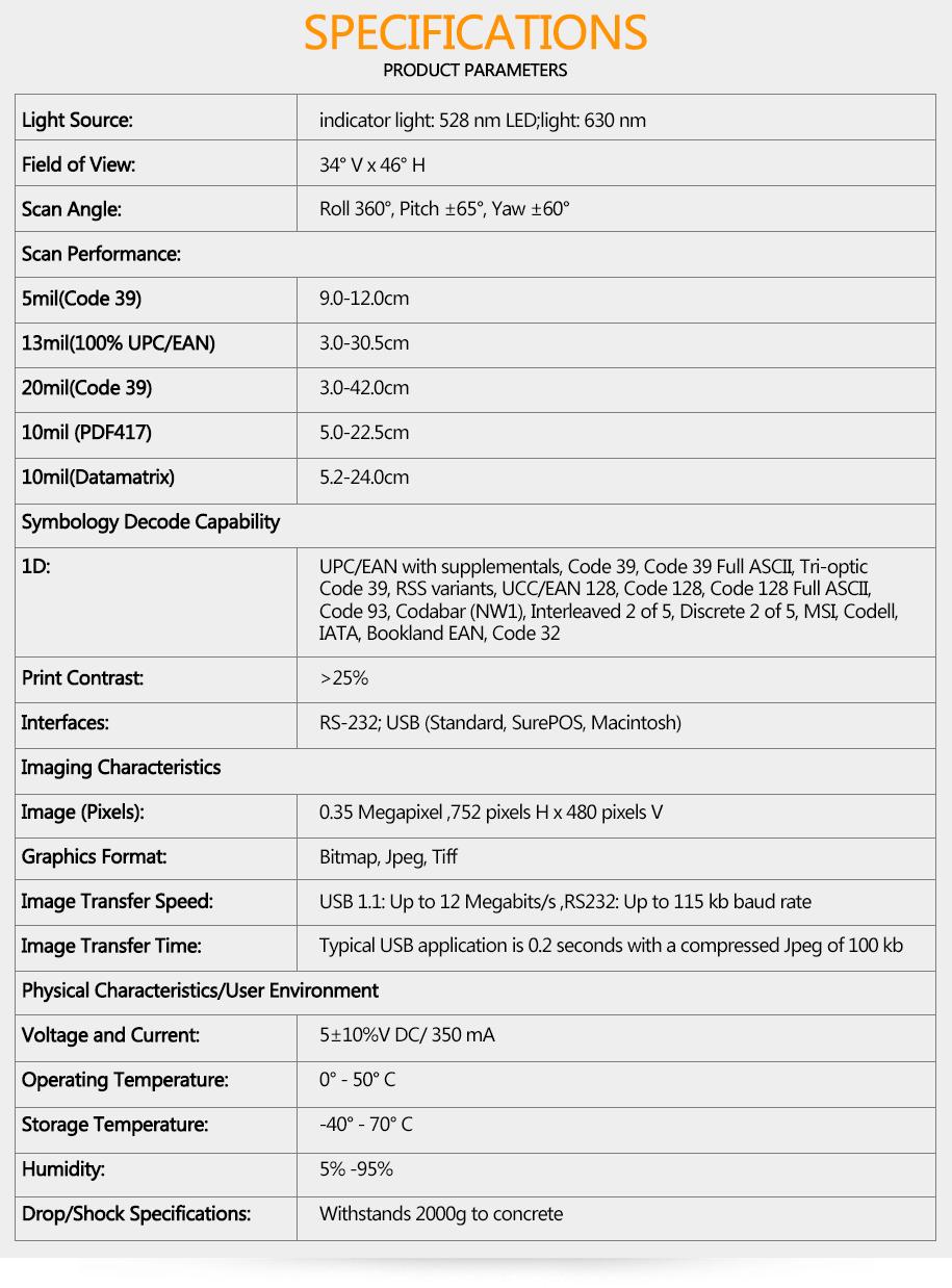 2D Ring Barcode Scanner