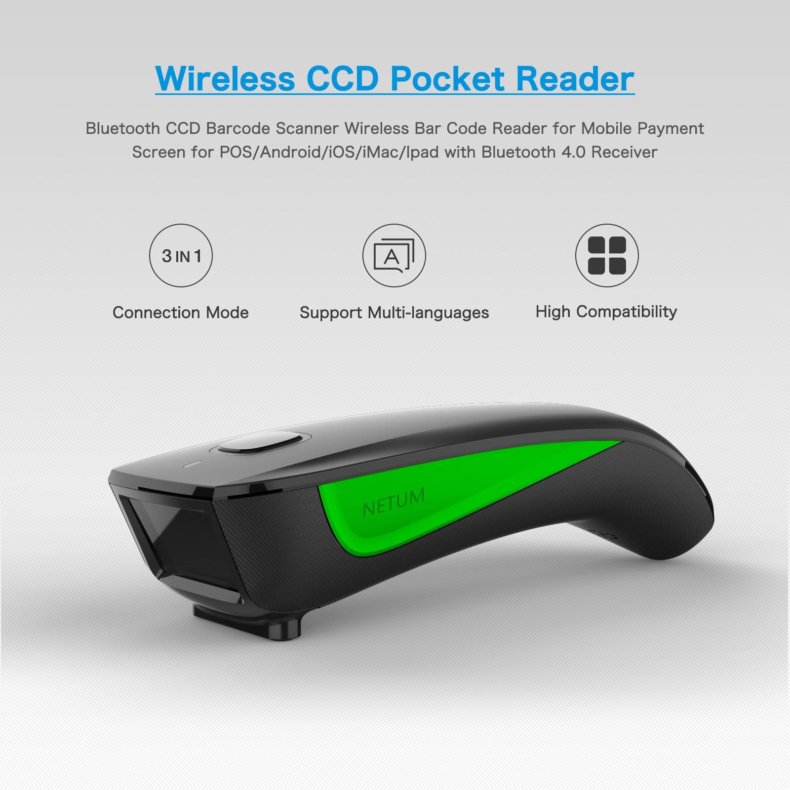 1D Bluetooth Wireless Barcode Reader