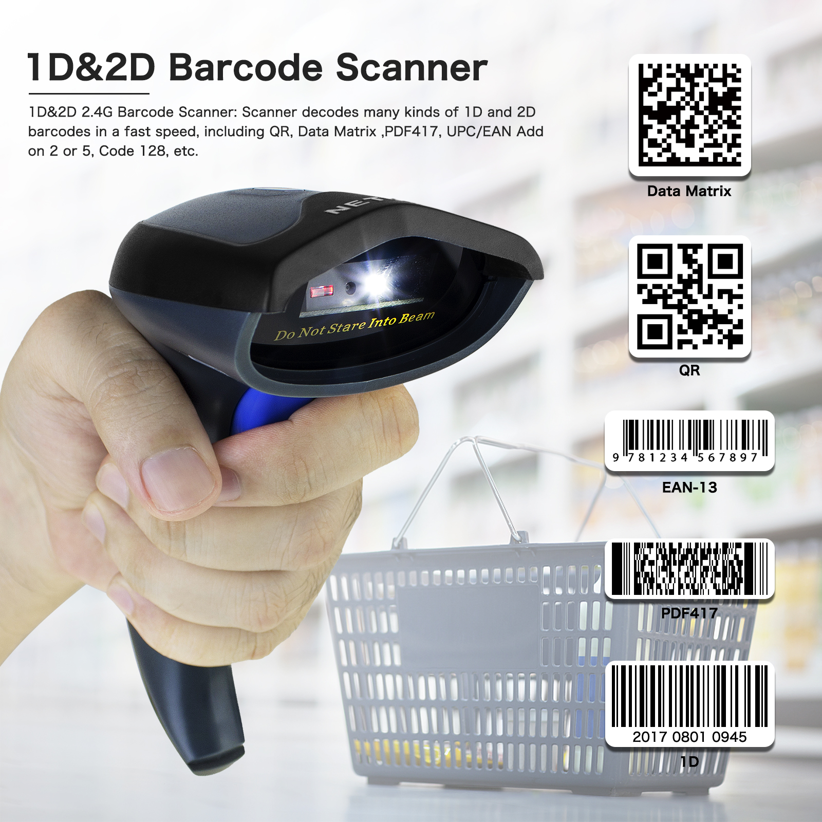 2D Bluetooth Barcode Scanner Support IOS Manufacturers, 2D Bluetooth Barcode Scanner Support IOS Factory, Supply 2D Bluetooth Barcode Scanner Support IOS