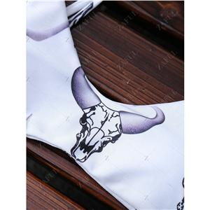 Women's Two-piece Swimsuit Bull Head Print Halter Padding Bikini Set Bathing Suit Beach Wear