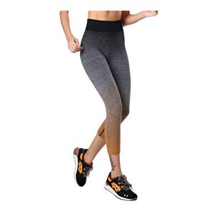 Womens Ombre Active Workout Tights Sport Leggings Flexible Capri Yoga Pants