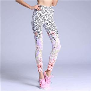 Women Tights Running Fitness Workout Leggings Yoga Pants Flower