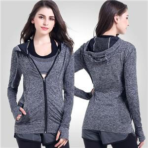 Women Running Yoga Slim Uv Protect Sweatshirts With Two Side Pocket Jacket Coat