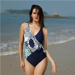 Racerback Wrap Bodysuit One Piece Swimsuits Cover Ups for Women Plus Size