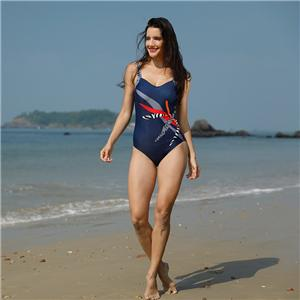 Ladies Racerback Swimsuit With Moderate-rear Coverage One Piece Swimwear
