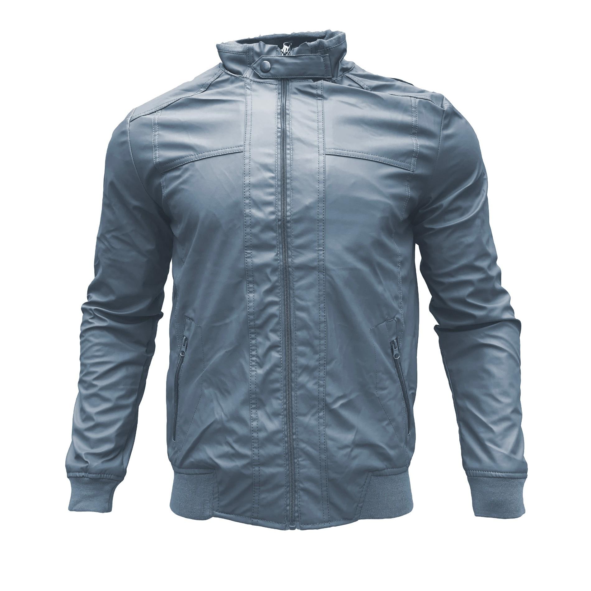 Men's PU Leather Jacket Man