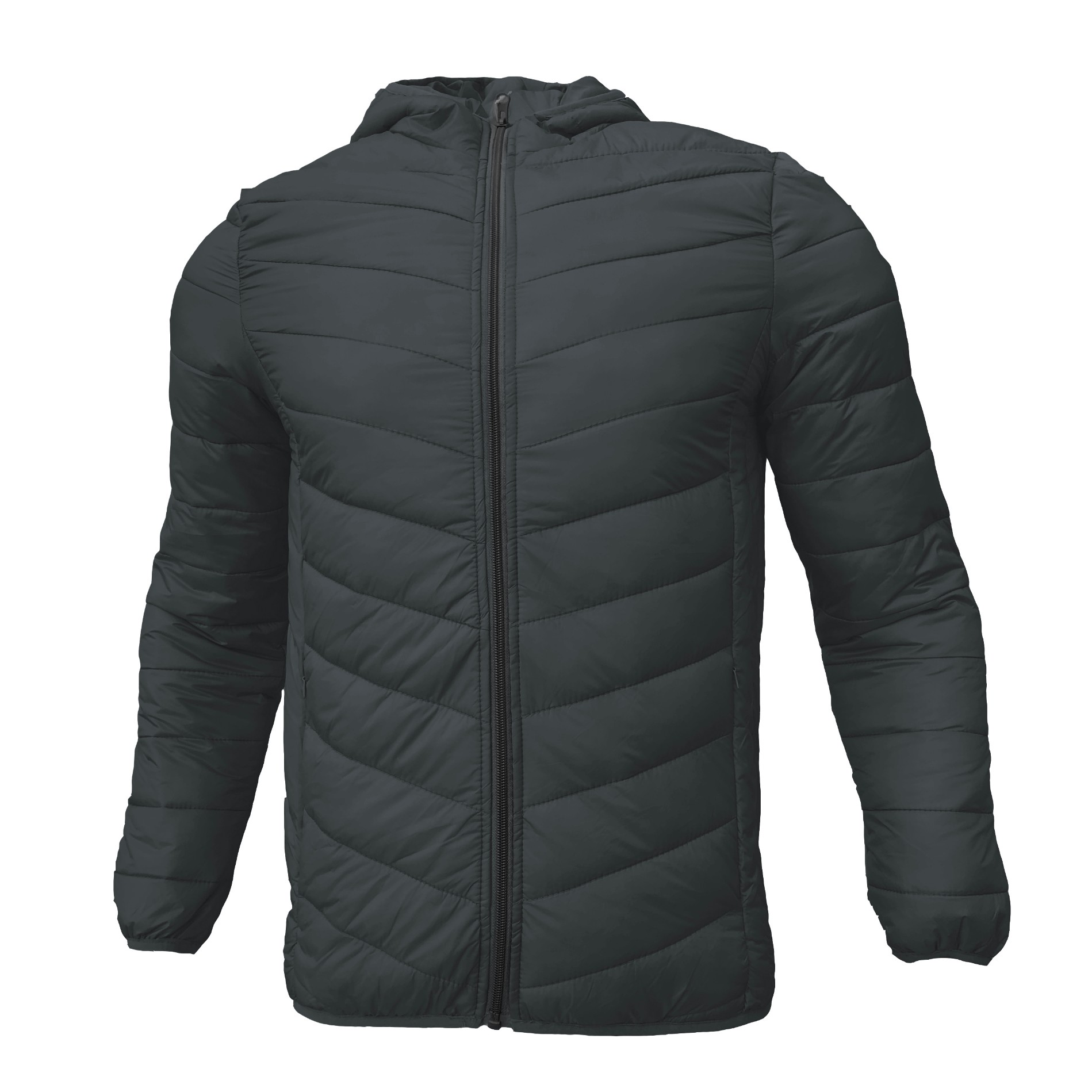 Men's Winter Quilted High Quality Hooded Padded Jacke