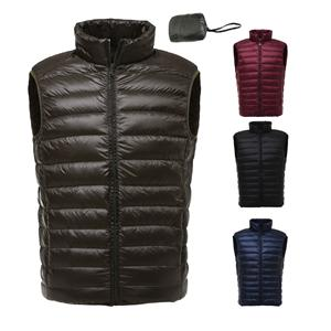 Men packetable duck down vest