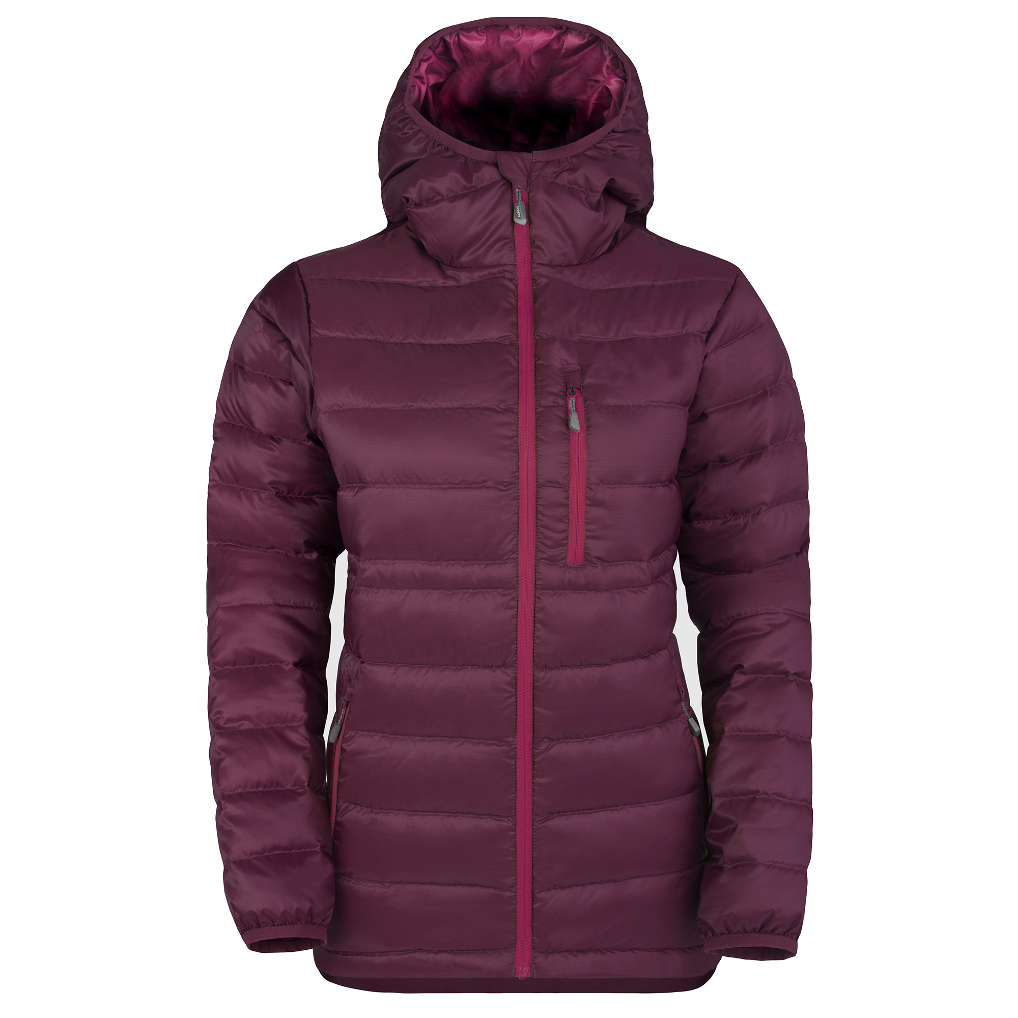Filoment women hydrophobic hooded down jacket