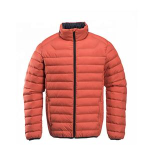 high quality light short folding down jacket self-recovering lightweight & U-shaped pillow