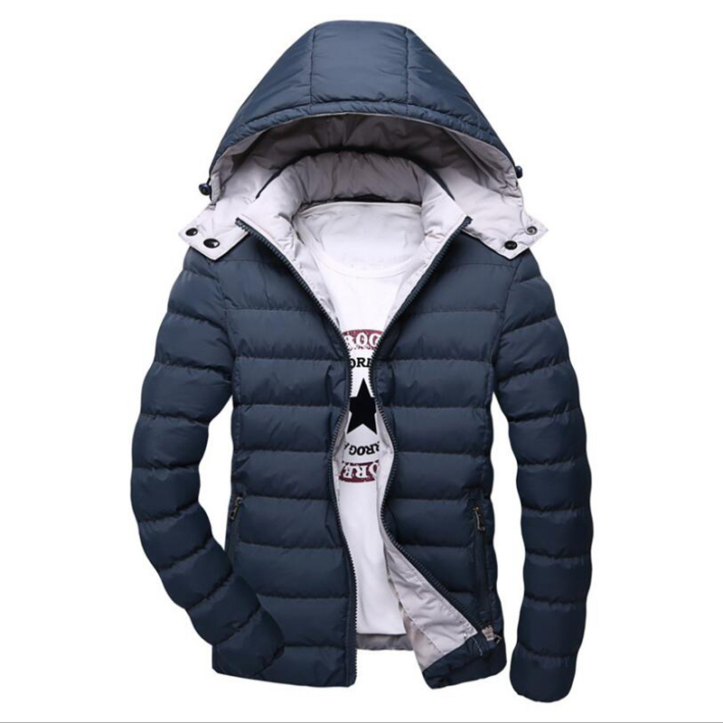 Winter Hooded thick cotton Jacket Mens