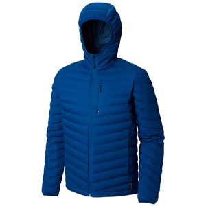 Men's strech weled down jacket with hood